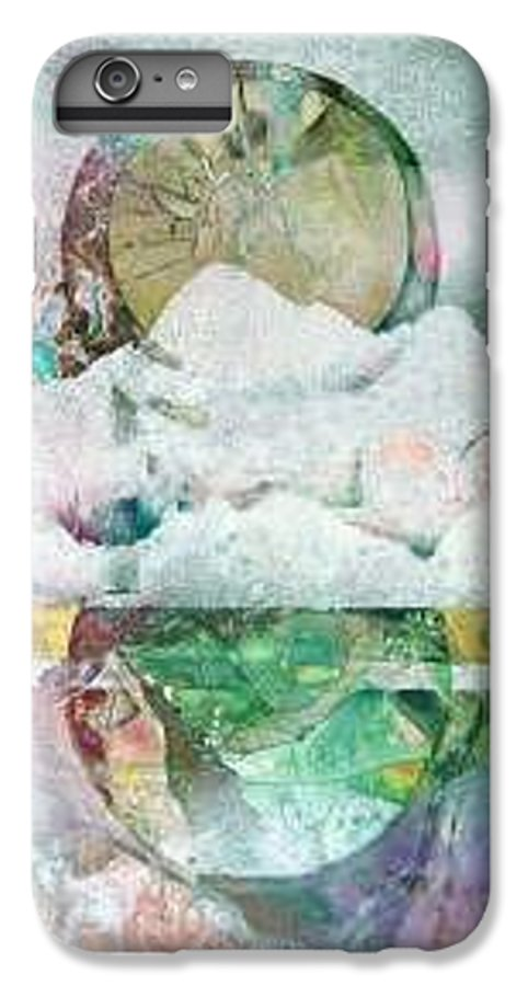 Abstract IPhone 6 Plus Case featuring the painting Winter Solstice by Marlene Gremillion