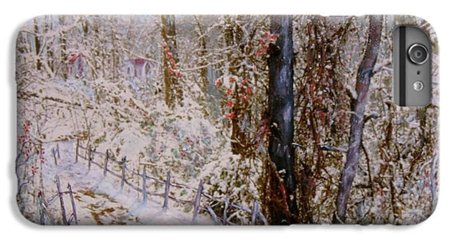 Snow; Trees IPhone 6 Plus Case featuring the painting Winter Wonderland by Ben Kiger