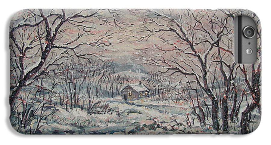 Landscape IPhone 6 Plus Case featuring the painting Wintery December by Leonard Holland