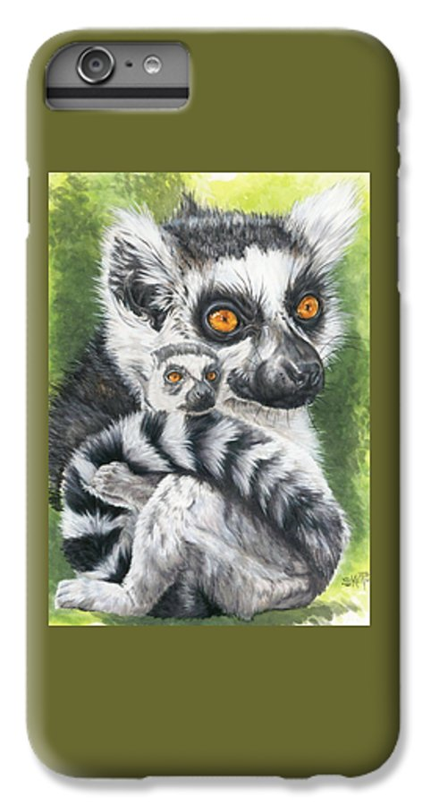 Lemur IPhone 6 Plus Case featuring the mixed media Wistful by Barbara Keith