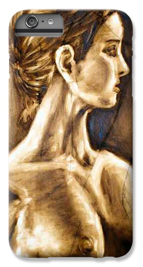 IPhone 6 Plus Case featuring the painting Woman by Thomas Valentine