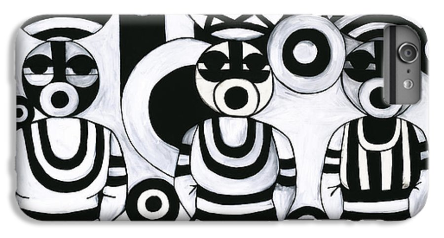 Cubism IPhone 6 Plus Case featuring the painting Women With Calabashes IIi by Emeka Okoro