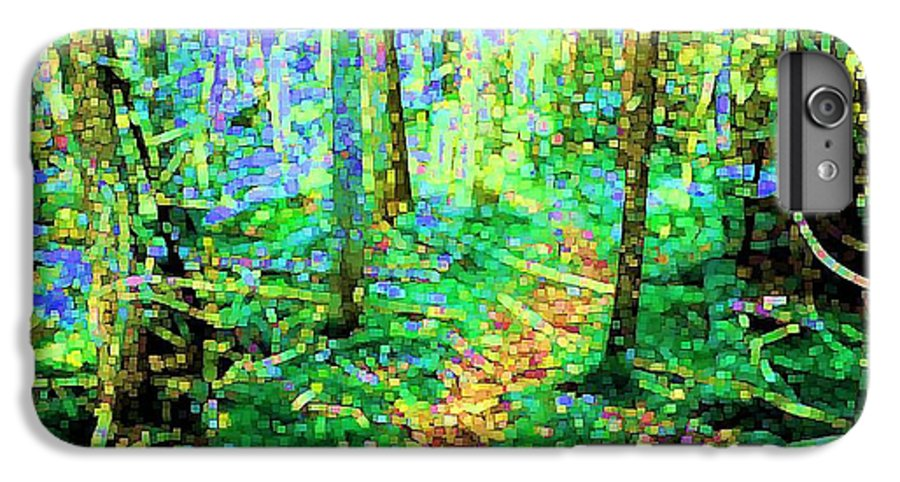 Nature IPhone 6 Plus Case featuring the digital art Wooded Trail by Dave Martsolf