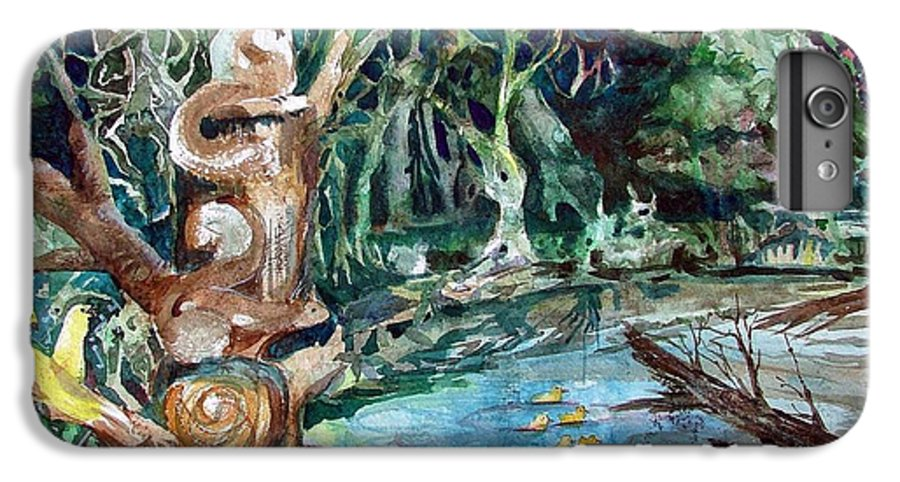 Squirrels IPhone 6 Plus Case featuring the painting Woodland Critters by Mindy Newman