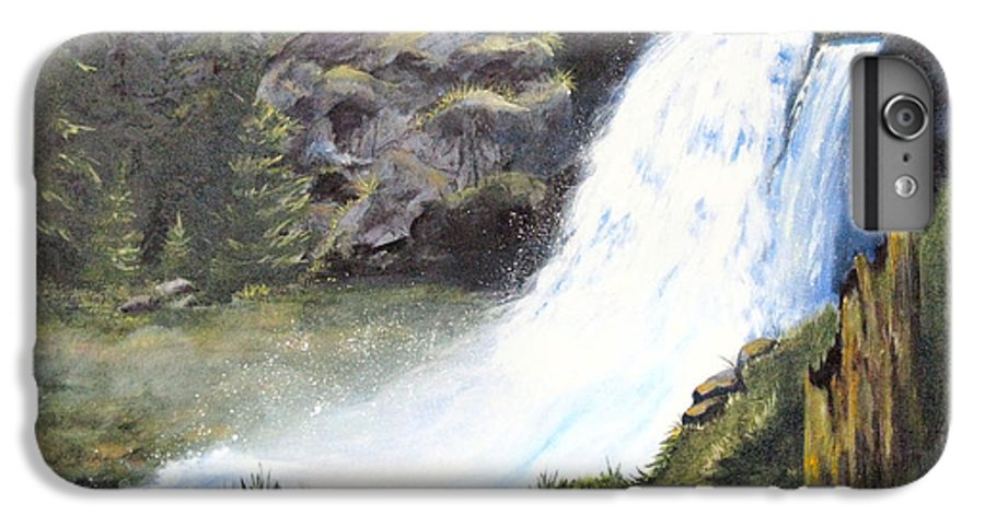 Forest IPhone 6 Plus Case featuring the painting Woodland Respite by Karen Stark