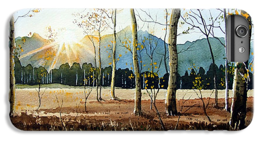 Landscape IPhone 6 Plus Case featuring the painting Woodland Sunset by Paul Dene Marlor