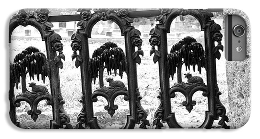 Gate IPhone 6 Plus Case featuring the photograph Wrought Iron Gate -west Epping Nh Usa by Erin Paul Donovan