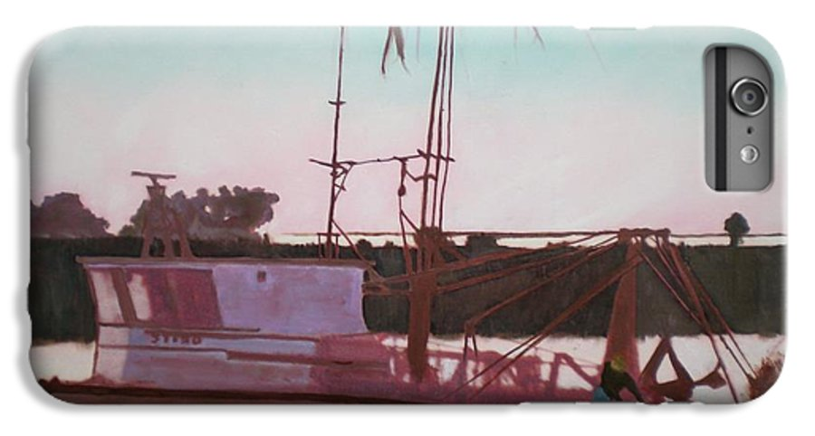 Seascape IPhone 6 Plus Case featuring the digital art Yankee Town Fishing Boat by Hal Newhouser