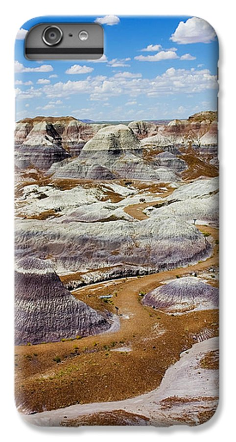Painted Desert IPhone 6 Plus Case featuring the photograph Yea Though I Walk by Skip Hunt