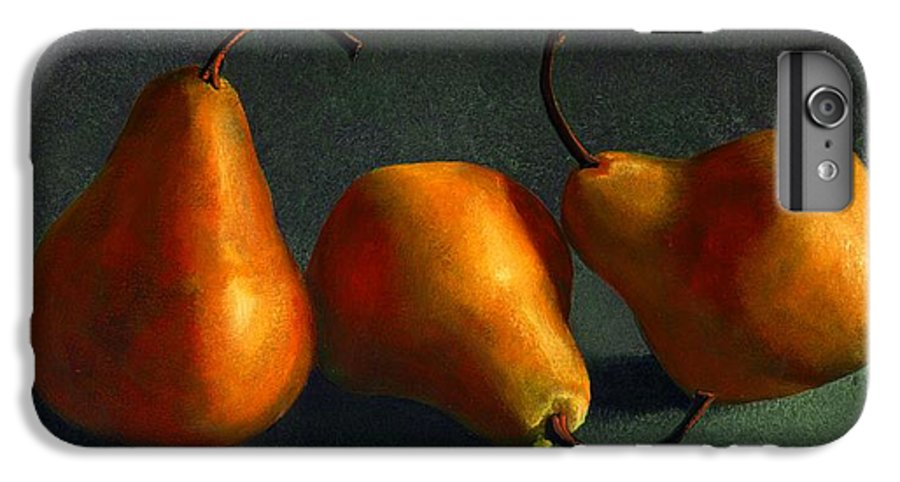 Still Life IPhone 6 Plus Case featuring the painting Yellow Pears by Frank Wilson