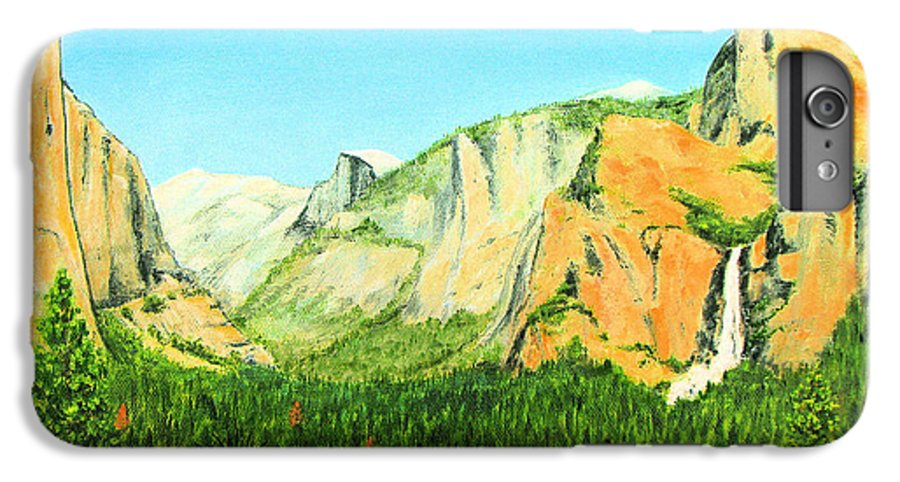 Yosemite National Park IPhone 6 Plus Case featuring the painting Yosemite National Park by Jerome Stumphauzer