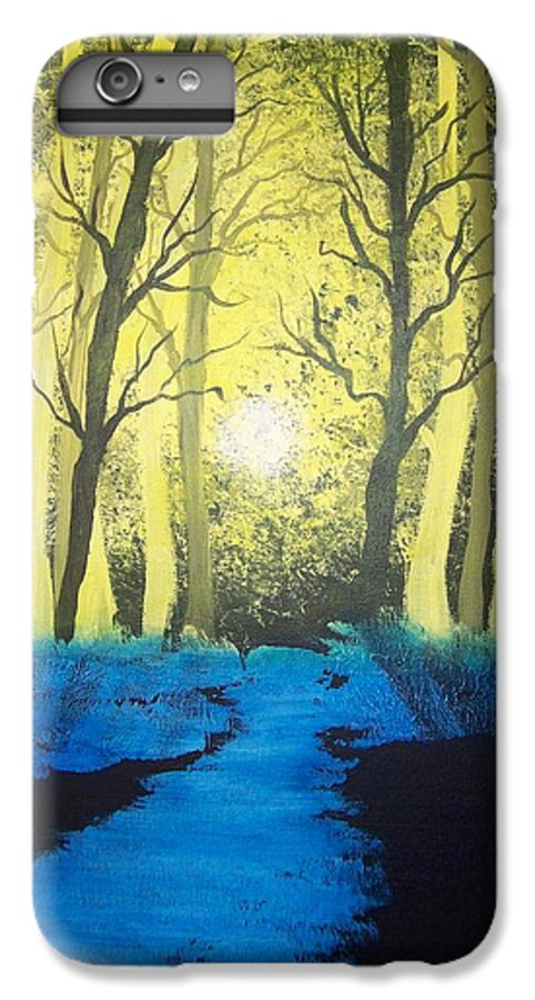 Forest IPhone 6 Plus Case featuring the painting You Cant See The Forest For The Trees by Laurie Kidd