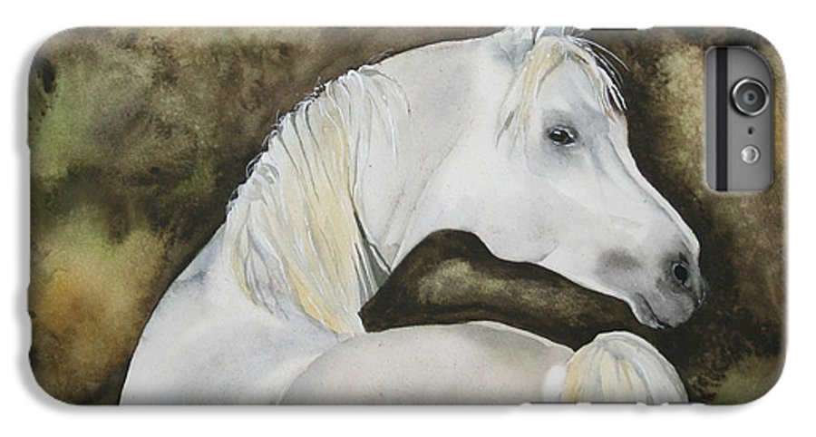 Horse IPhone 6 Plus Case featuring the painting You Talking To Me by Jean Blackmer