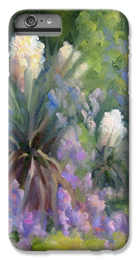 Yucca IPhone 6 Plus Case featuring the painting Yucca And Wisteria by Bunny Oliver