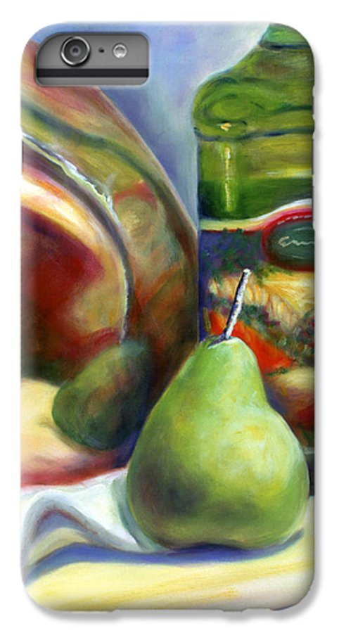 Copper Vessel IPhone 6 Plus Case featuring the painting Zabaglione Pan by Shannon Grissom