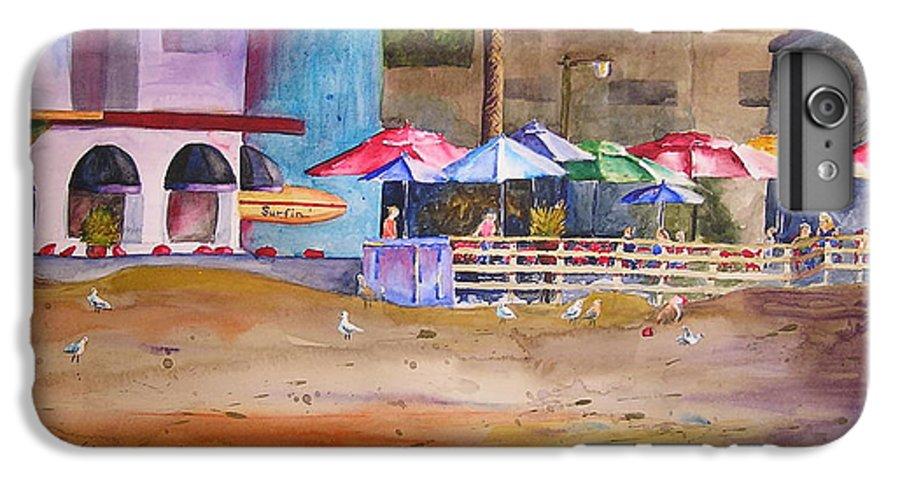 Umbrella IPhone 6 Plus Case featuring the painting Zelda's Umbrellas by Karen Stark