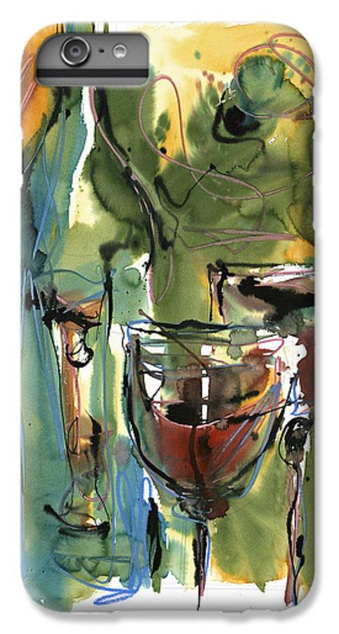 Wine IPhone 6 Plus Case featuring the painting Zin-findel by Robert Joyner