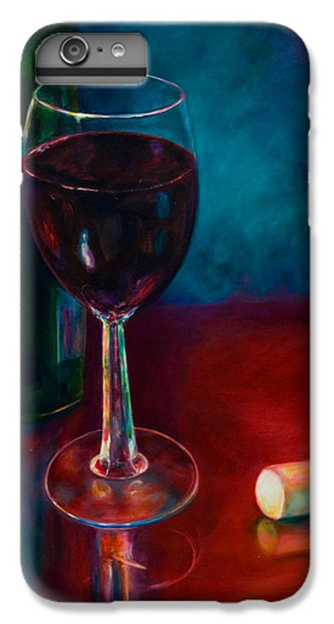 Wine Bottle IPhone 6 Plus Case featuring the painting Zinfandel by Shannon Grissom