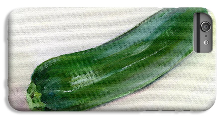 Food IPhone 6 Plus Case featuring the painting Zucchini by Sarah Lynch