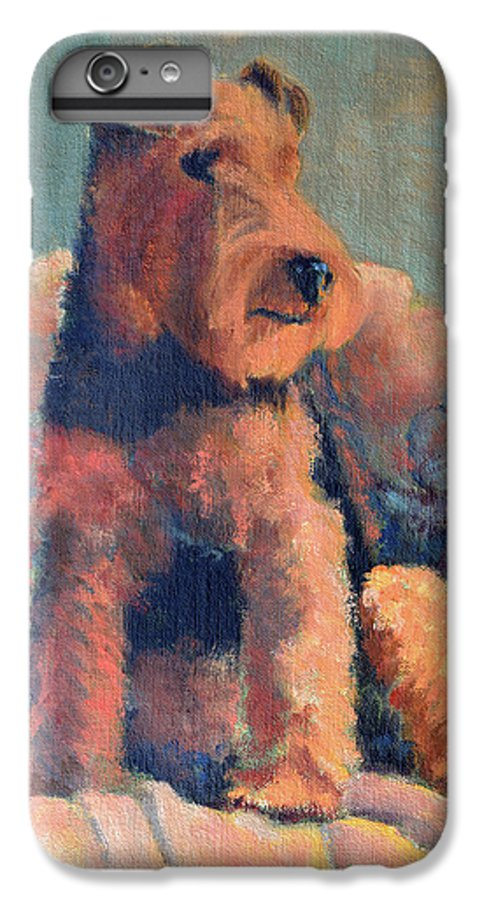 Pet IPhone 6 Plus Case featuring the painting Zuzu by Keith Burgess