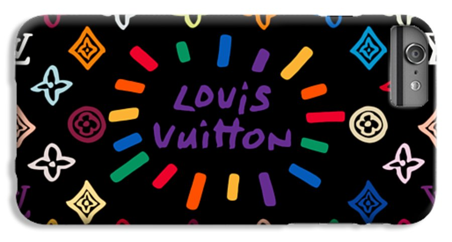Lv IPhone 6 Plus Case featuring the painting Louis Vuitton Monogram-11 by Nikita