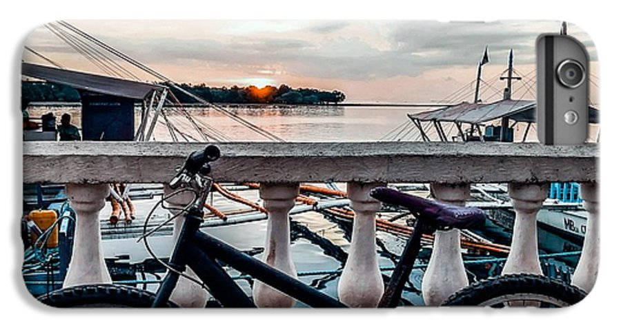 Bike IPhone 6 Plus Case featuring the photograph Traveller's point by Dynz Abejero