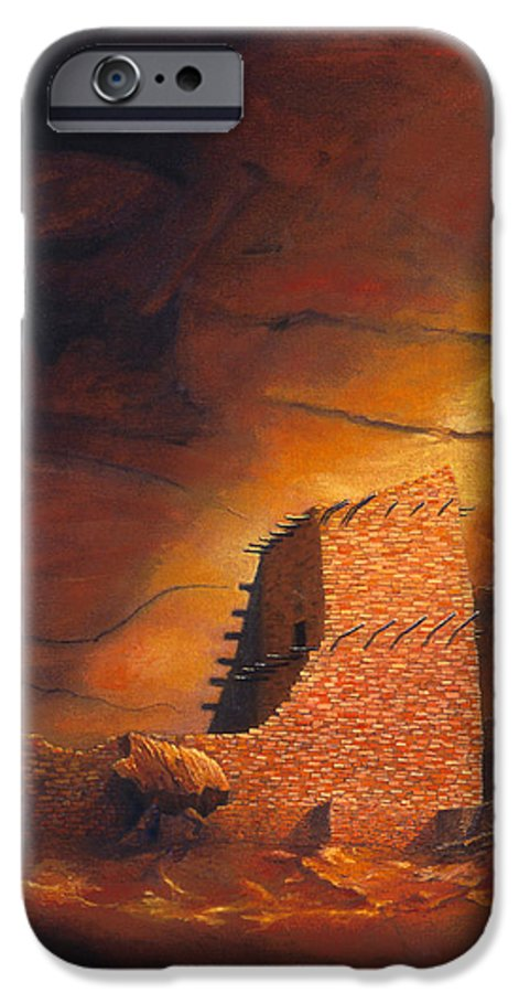 Mummy Cave Ruins IPhone 6s Case featuring the painting Mummy Cave Ruins by Jerry McElroy