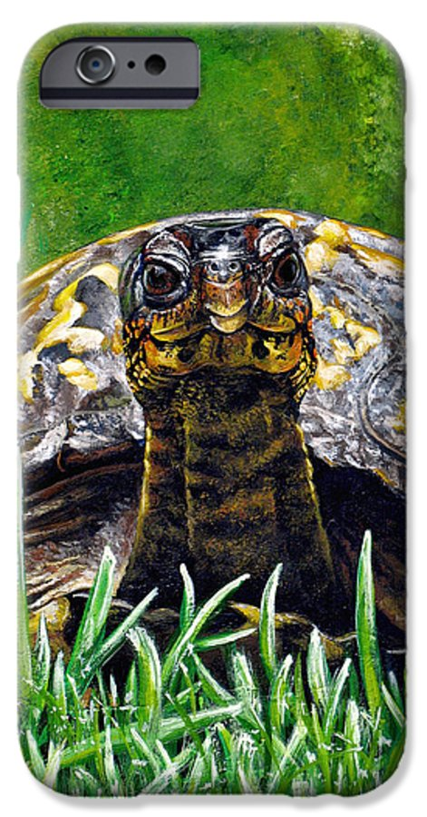 Turtle IPhone 6s Case featuring the painting Smile by Cara Bevan