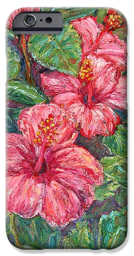 Hibiscus IPhone 6s Case featuring the painting Hibiscus by Kendall Kessler