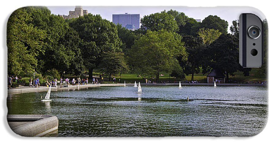 Pond IPhone 6s Case featuring the photograph Central Park Pond by Madeline Ellis
