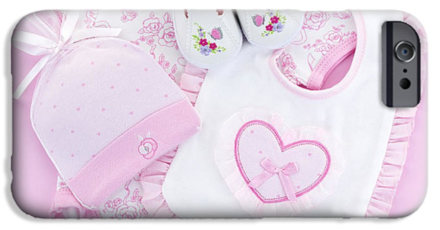 Baby Clothes IPhone 6s Case featuring the photograph Pink Baby Clothes For Infant Girl by Elena Elisseeva