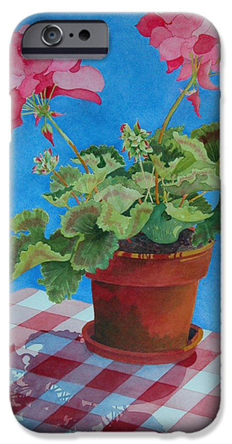Floral. Duvet IPhone 6s Case featuring the painting Afternoon Shadows by Mary Ellen Mueller Legault