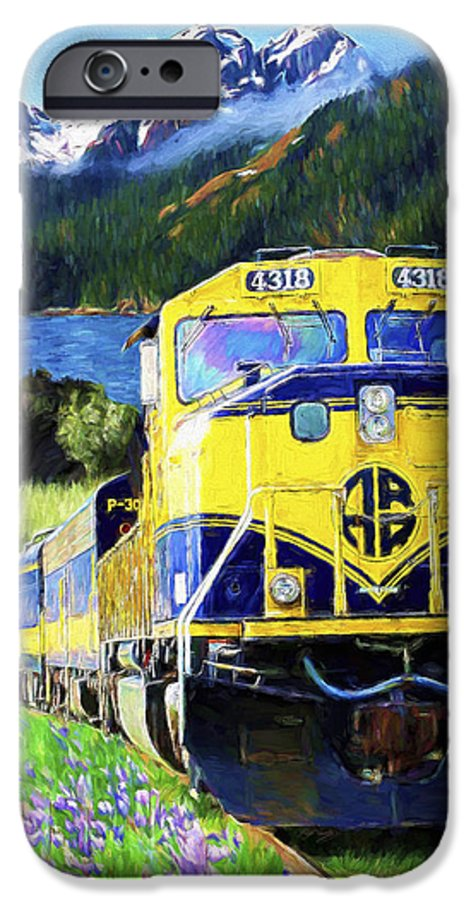 Railroad IPhone 6s Case featuring the painting Alaska Railroad by David Wagner
