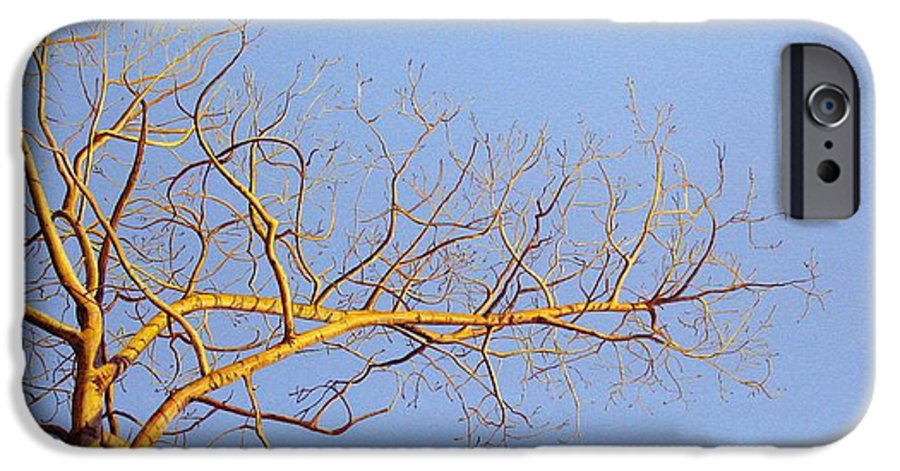 Aspen Painting IPhone 6s Case featuring the painting Aspen In The Autumn Sun by Elaine Booth-Kallweit
