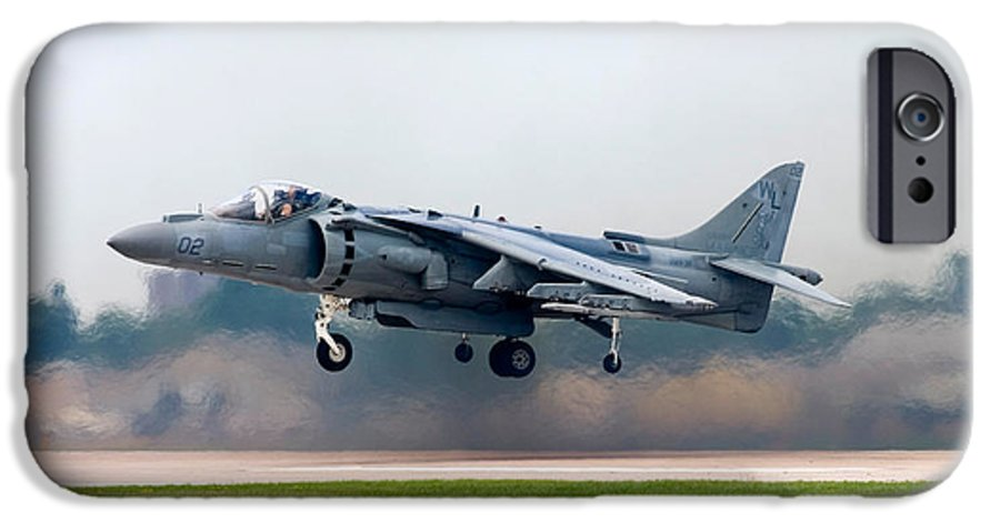 3scape IPhone 6s Case featuring the photograph Av-8b Harrier by Adam Romanowicz