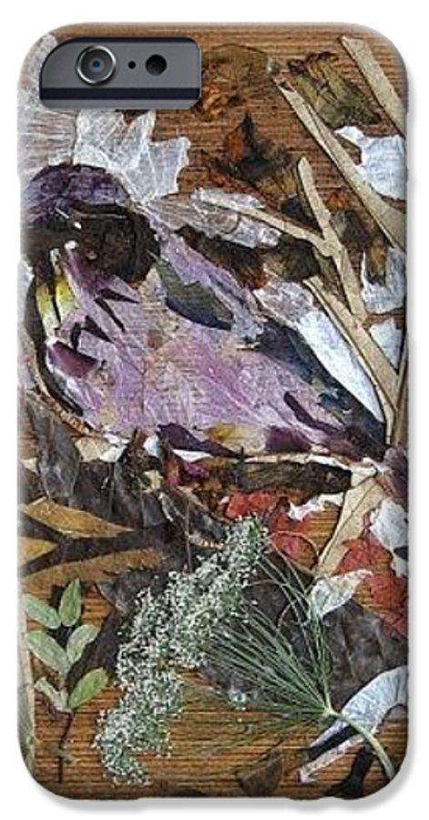 Bird Scrub Joy IPhone 6s Case featuring the mixed media Bird Scubjoy by Basant Soni