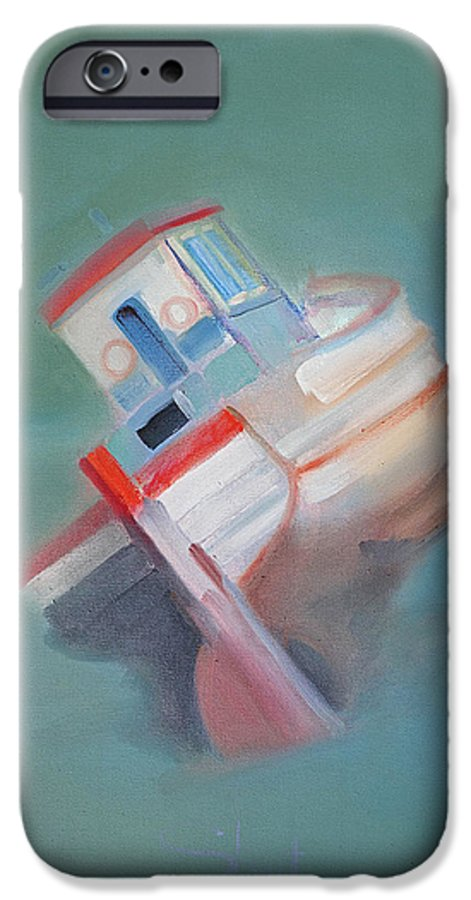 Fishing Boat IPhone 6s Case featuring the painting Boat Retired Tavira by Charles Stuart