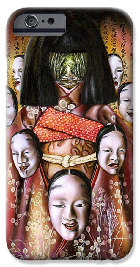 Japanese IPhone 6s Case featuring the painting Boukyo Nostalgisa by Hiroko Sakai