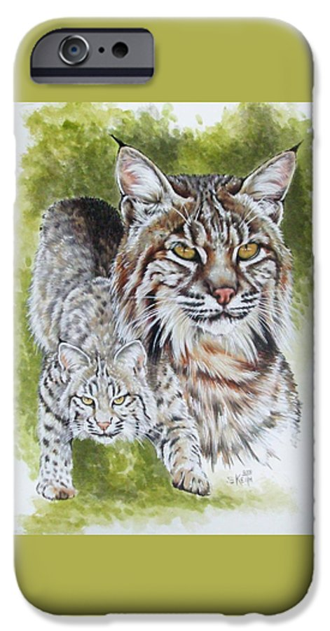Small Cat IPhone 6s Case featuring the mixed media Brassy by Barbara Keith