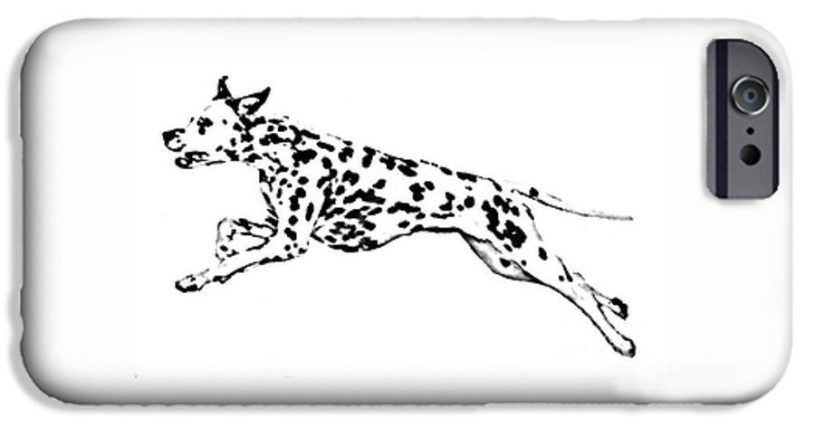 Dogs IPhone 6s Case featuring the drawing Celebrate by Jacki McGovern