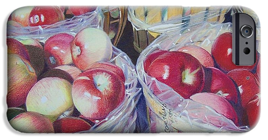 Apple IPhone 6s Case featuring the mixed media Cortland Apples by Constance Drescher