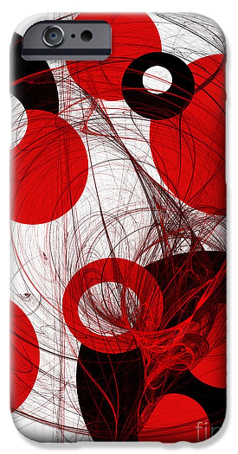 Abstract IPhone 6s Case featuring the digital art Cyclone Circle Abstract by Andee Design