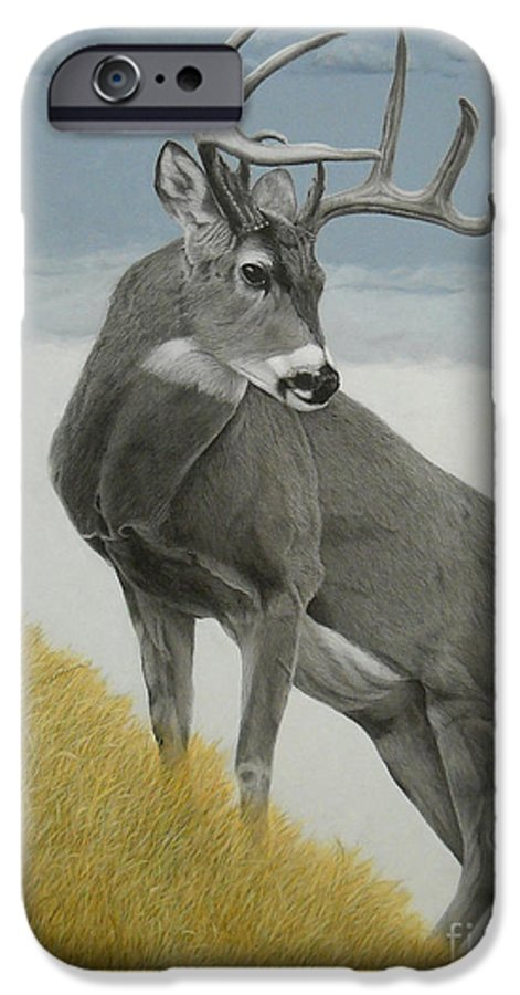 Deer IPhone 6s Case featuring the painting Distant Challenge by Susan Fraser SCA B Sc