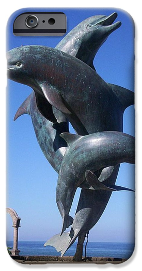 Jandrel IPhone 6s Case featuring the photograph Dolphin Dance by J Andrel
