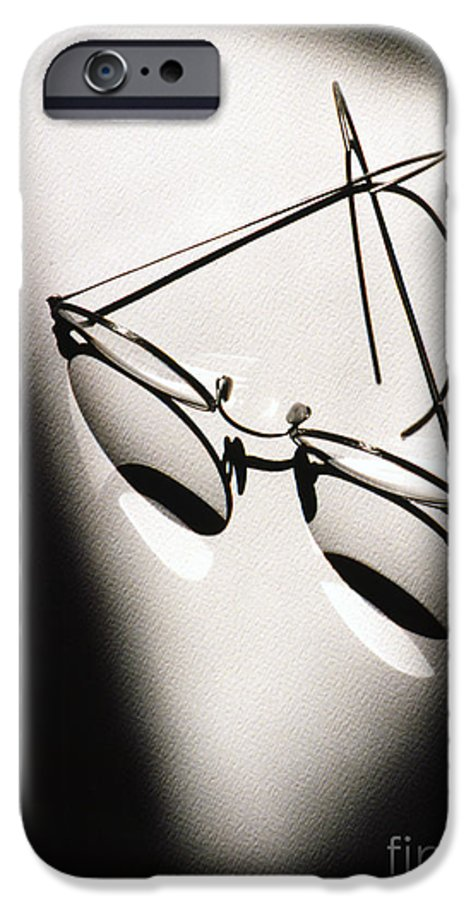 Black & White IPhone 6s Case featuring the photograph Eye Glasses by Tony Cordoza