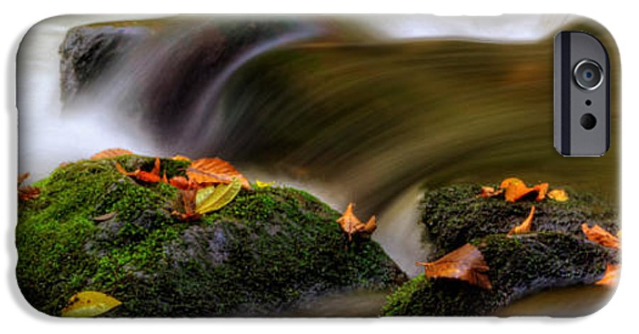 Fall IPhone 6s Case featuring the photograph Fall Leaves On Mossy Rocks by Greg Mimbs