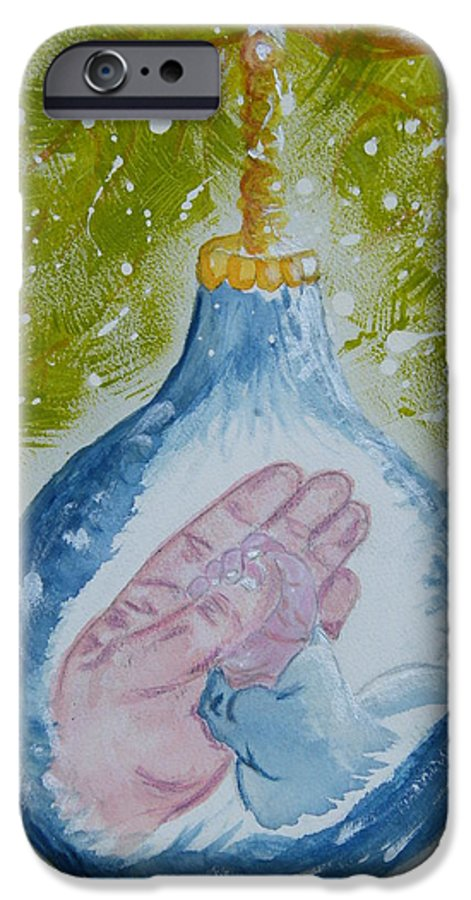 Christmas IPhone 6s Case featuring the painting First Christmas II by Margaret G Calenda