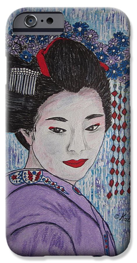Oriental IPhone 6s Case featuring the painting Geisha Girl by Kathy Marrs Chandler