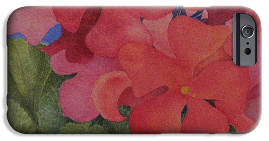 Florals IPhone 6s Case featuring the painting Generium by Mary Ellen Mueller Legault