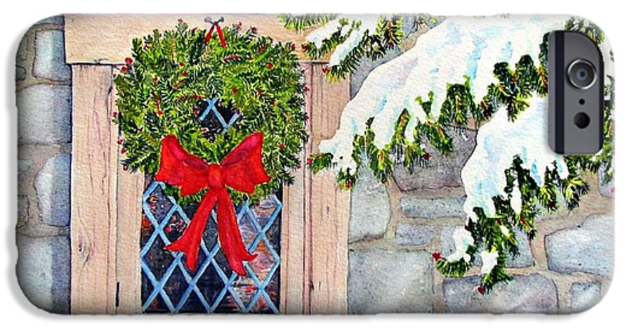 Holidays IPhone 6s Case featuring the painting Home For The Holidays by Mary Ellen Mueller Legault